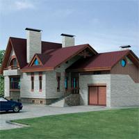 проект дома 32-95 общ. площадь 348,24 м2