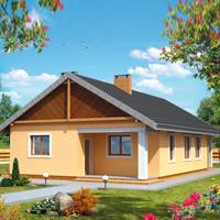 Каталог проекты домов из пеноблоков проект дома 80-43 общ. площадь 77,1 м2