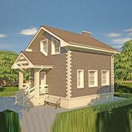 проект дома 88-21 общ. площадь 77,23 м2