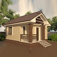 проект дома 88-43 общ. площадь 37,8 м2