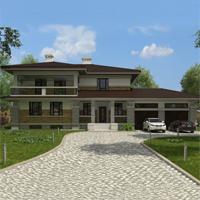 проект дома 88-81 общ. площадь 590,25 м2