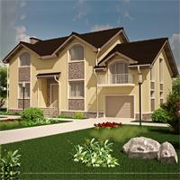 проект дома 89-68 общ. площадь 285,92 м2