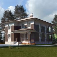 проект дома 84-00 общ. площадь 265,15 м2