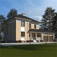 проект дома 84-02 общ. площадь 353,70 м2