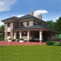 проект дома 84-06 общ. площадь 311,80 м2