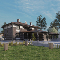проект дома 84-18 общ. площадь 498,25 м2