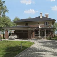 проект дома 93-04 общ. площадь 349,80 м2