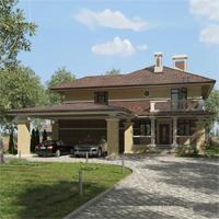 проект дома 93-05 общ. площадь 347,90 м2