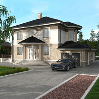 проект дома 93-08 общ. площадь 253,50 м2