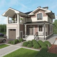проект дома 84-55 общ. площадь 260,85 м2