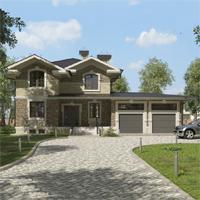 проект дома 84-52 общ. площадь 348,85 м2