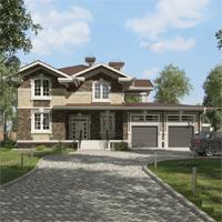 проект дома 84-78 общ. площадь 349,50 м2