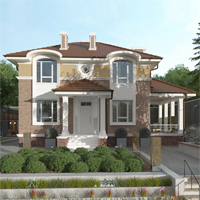 проект дома 93-32 общ. площадь 196,80 м2
