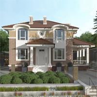 проект дома 93-42 общ. площадь 213,10 м2