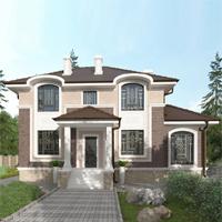 проект дома 93-33 общ. площадь 214,75 м2