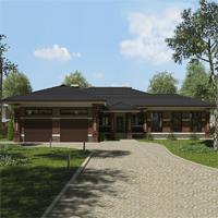 проект дома 90-05 общ. площадь 258,65 м2