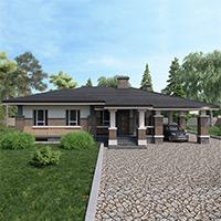 Каталог проекты домов из пеноблоков проект дома 90-13 общ. площадь 146,50м2