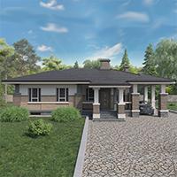 проект дома 91-08 общ. площадь 318,00 м2