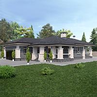 проект дома 91-10 общ. площадь 373,60 м2