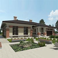 проект дома 90-11 общ. площадь 203,20 м2