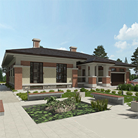 проект дома 91-11 общ. площадь 398,60 м2