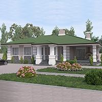 Каталог проекты домов из пеноблоков проект дома 90-14 общ. площадь 169,85 м2
