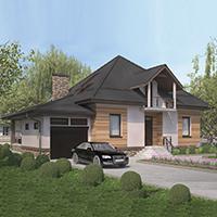 проект дома 96-73 общ. площадь 301,80 м2