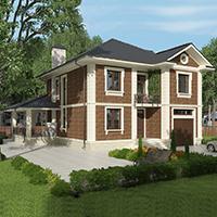 проект дома 96-23 общ. площадь 295,65 м2