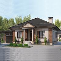 проект дома 90-15 общ. площадь 130,25 м2