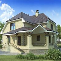 Каталог проекты домов из пеноблоков проект дома 50-56 общ. площадь 146,0м2