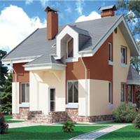 Каталог проекты домов из пеноблоков проект дома 59-16 общ. площадь 140,5 м2