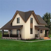 Каталог проекты домов из пеноблоков проект дома 59-45 общ. площадь 125,8 м2