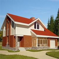 Каталог проекты домов из пеноблоков проект дома 59-46 общ. площадь 148,5 м2