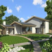Каталог проекты домов из пеноблоков проект дома 59-51 общ. площадь 115,6 м2