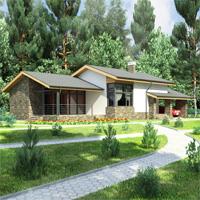 Каталог проекты домов из пеноблоков проект дома 59-54 общ. площадь 205,66 м2