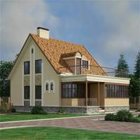 Каталог проекты домов из пеноблоков проект дома 59-64 общ. площадь 147,94 м2