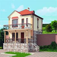 Каталог проекты домов из пеноблоков проект дома 59-65 общ. площадь 73,88 м2