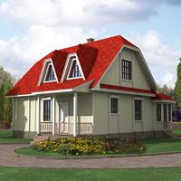 Каталог проекты домов из пеноблоков проект дома 58-21 общ. площадь 134 м2