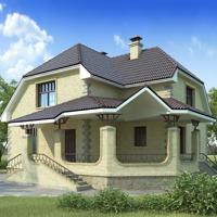 Каталог проекты домов из пеноблоков проект дома 58-24 общ. площадь 187 м2