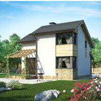 Каталог проекты домов из пеноблоков проект дома 57-00 общ. площадь 90.48 м2
