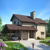 Каталог проекты домов из пеноблоков проект дома 57-01 общ. площадь 89,17 м2