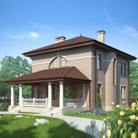 Каталог проекты домов из пеноблоков проект дома 57-02 общ. площадь 149.5 м2