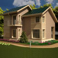 проект дома 20-87 общ. площадь 190,08 м2