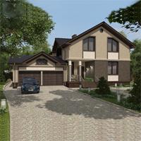 проект дома 22-70 общ. площадь 302,30 м2