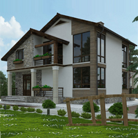 проект дома 21-16 общ. площадь 255,85 м2