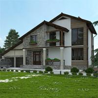 проект дома 21-13 общ. площадь 335,25 м2