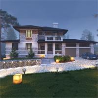 проект дома 21-56 общ. площадь 508,00 м2