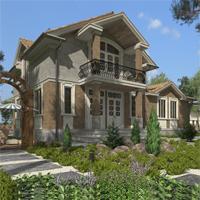 проект дома 20-92 общ. площадь 318,70 м2