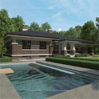 Каталог проекты домов из пеноблоков проект дома 27-00 общ. площадь 146,20м2
