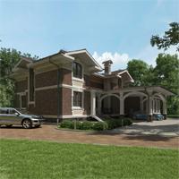 проект дома 24-75 общ. площадь 517,95 м2